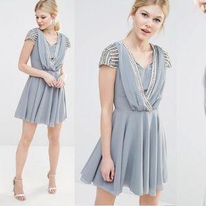 ASOS Maya Petite Embellished  Wrap Front Dress